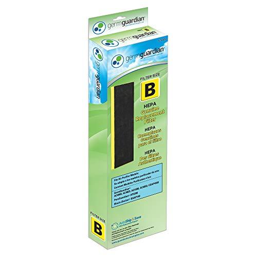 Large Product Image of GermGuardian Air Purifier Filter FLT4825 GENUINE HEPA Replacement Filter B for AC4825, AC4825E, AC4300BPTCA, AC4850PT, AC4900CA, CDAP4500BCA, CDAP4500WCA Germ Guardian Air Purifiers [UPGRADED]