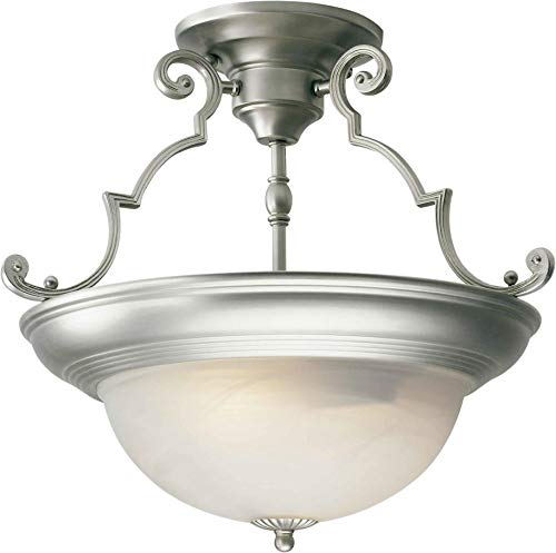 Forte Lighting 2298-02-55 Semi-Flush Ceiling Fixture from The Close to Ceiling Collection