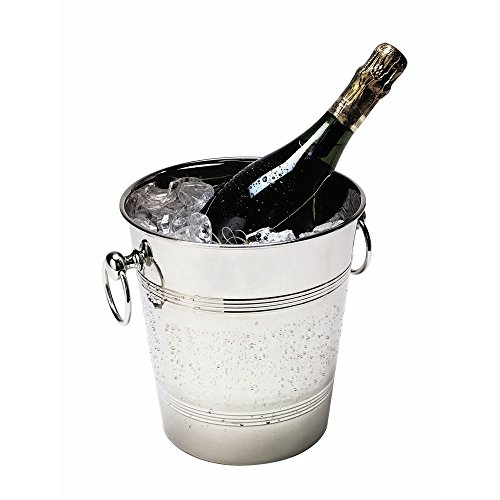 - American Metalcraft WB9 Nickel-Plated Hammered Brass Champagne Bucket