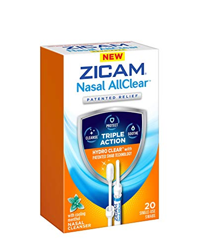- ZICAM Nasal AllClear Triple Action Nasal Cleanser with Cooling Menthol, 20 Count
