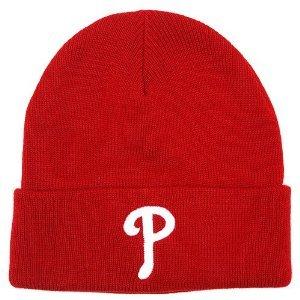 Philadelphia Phillies Cuffed Beanie Red Hat-winter Knit Cap