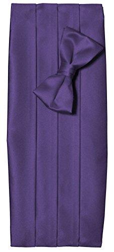 Toddler Boys Lavender Purple Satin Tuxedo Cummerbund and Bow Tie Set