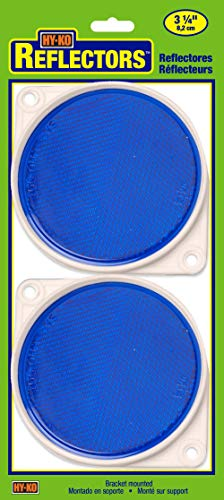 HY-KO Products CDRF-3B BRACKETED Nail-ON Reflector 2 PK, 3.25 in in, Blue