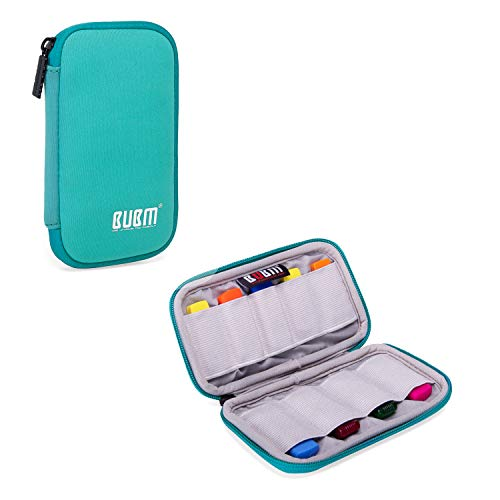 BUBM Mini USB Flash Drive Sticks Carrying Case with Soft Padded Cover, Easy to Carry, 9-Capacity, Light Green