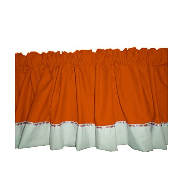 Baby Doll Bedding Regal Window Valance, Orange