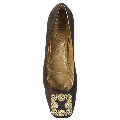 J.renee Womens Balletto Di Danza Del Ventre Piatto Cioccolato