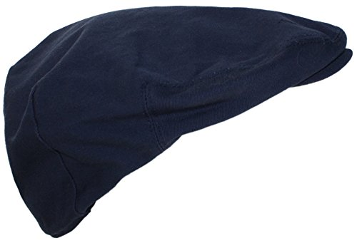 Ted and Jack - Street Easy Traditional Solid Cotton Newsboy Cap in Navy Size XL