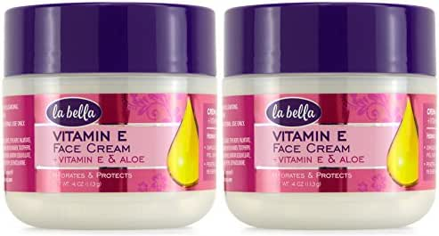 La Bella, Face Cream, Vitamin E & Aloe, 4 oz, Pack of 2