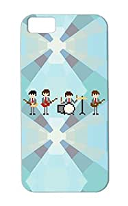8 Bit The Beatles Brown TPU For Iphone 5c Ringostarr The Beatles Computer Music Paul Mcartney Bit Nintendo Game John Lennon Vintage George Harrison Rock Metal Case Cover by ruishername