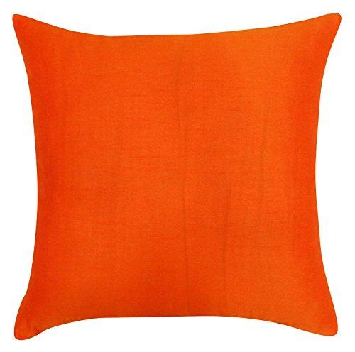 Home Decor Pillow Throw Solid Dupion Silk Cushion Cover Case - Choose Size (Cushion Dupion Silk)
