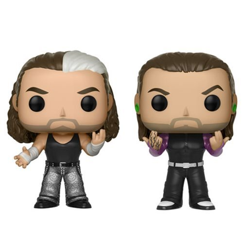 WWE Hardy Boyz Pop Vinyl Figure 2Pack and keychain by w.w.e