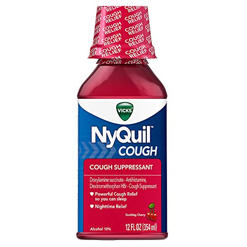 Nyquil Cough Liquid - Vicks NyQuil Cough Liquid Cherry - 12 oz, Pack of 5