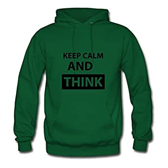 Theresawilkins Styling Women Keep Calm And Think Hoody - Keep Calm And Think Print In X-large