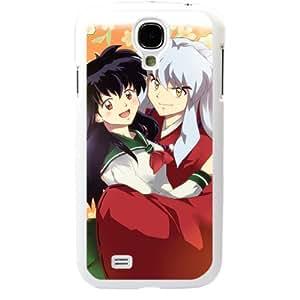 InuYasha Manga Anime Comic Higurashi Kagome Samsung Galaxy S4 SIV I9500 TPU Soft Black or White case (White)