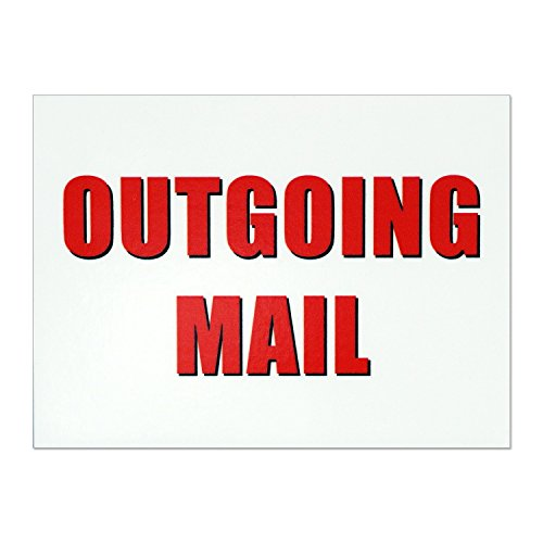 Outgoing Mail Magnet - 3x4 Inch Mailbox Notification -