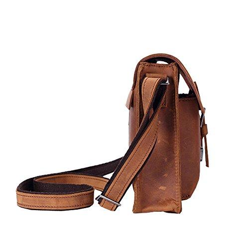 Othilar Herren Damen klein Leder Tasche Handtasche Aktentasche Schultertasche