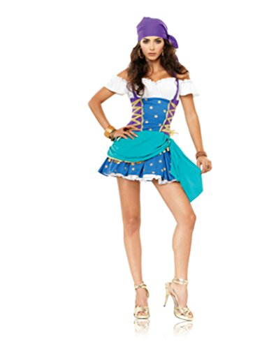 Leg Avenue Womens Gypsy Princess Fortune Teller Outfit Fancy Dress Sexy Costume, S/M -