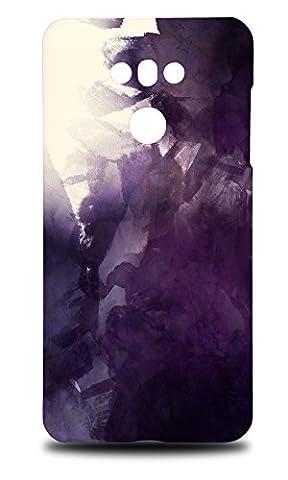 Foxercase Designs Dark Purple Watercolor 70 Hard Back Case Cover For LG G6 (Cover De Lg 70)