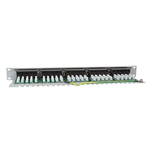 RAL7035 grau Voice//ISDN 50-Port LogiLink Professional Patchpanel 19 Einbau CAT3