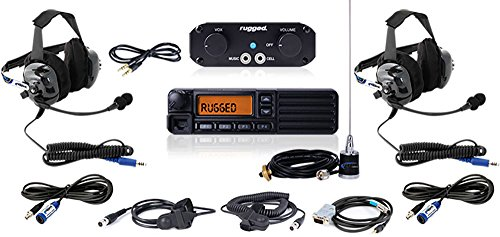 From XTR Off-Road: Rugged Radios - Ultimate Rider UTV RRP660 2 Person System with 50-Watt Car-2-Car