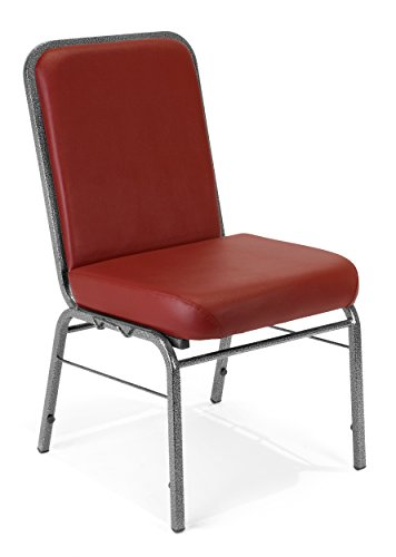 - OFM Comfort Class Series Anti-Microbial/Anti-Bacterial Vinyl Stack Chair, Wine