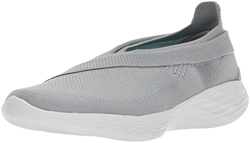 Skechers Luxe Grau Damen Sneaker On You Slip raqA4xr8