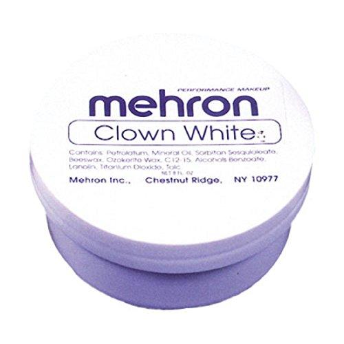 (Maquillaje En Crema Color Blanco Para Pintura Facial Y Corporal - Uso Con Disfraces - Envase De 7)