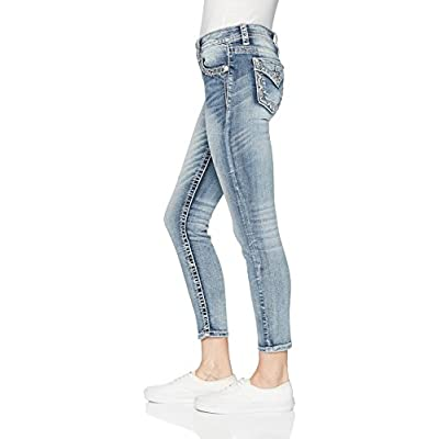 Miss Me Women's Mid-Rise Stretch Ankle Skinny Jeans With Faux Flap Pockets