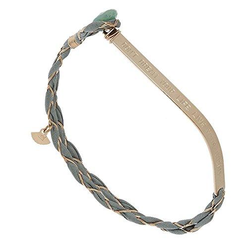 Bracelet Says en soie tressé (gris vert)