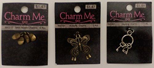 hobby-lobby-charm-me-r-1-butterfly-antique-gold-1-set-of-4-mini-acorns-antique-gold-1-mini-keyring-s