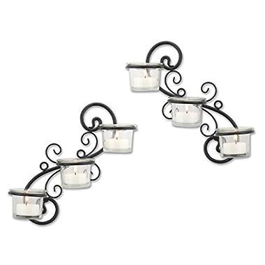Stonebriar Wall Sconce Candle Holder Set