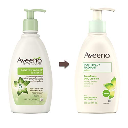 اسعار Aveeno Positively Radiant Body Lotion, 12 Fl. Oz (Pack of 3)