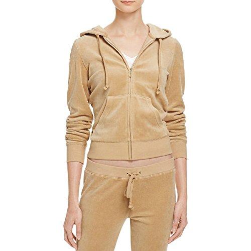 - Juicy Couture Black Label Womens Robertson Velour Zipper Hoodie Gold S