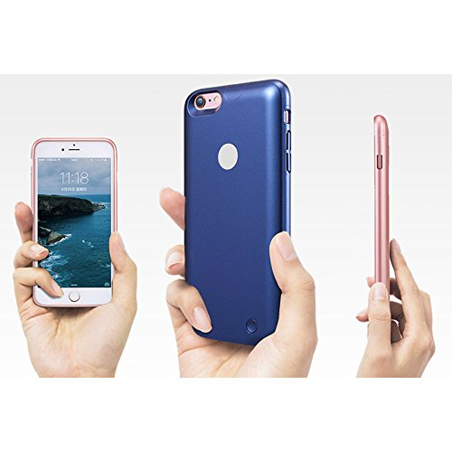 Roop iPhone 6 /6S recargable caso ultra slim carcasa con cargador con batería de alta capacidad para iPhone 6 /6S 2500mAh (4.7 Gold) Blue