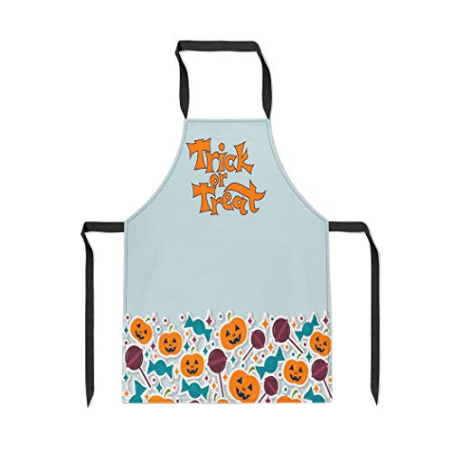 Pinbeam Apron Autumn on Trick Treat for to The Halloween with Adjustable Neck for Cooking Baking Garden