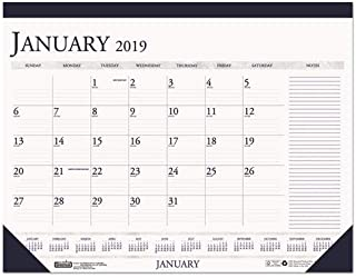 product image for HOD164 - Recycled Two-Color Monthly Desk Pad Calendar w/Large Notes Section