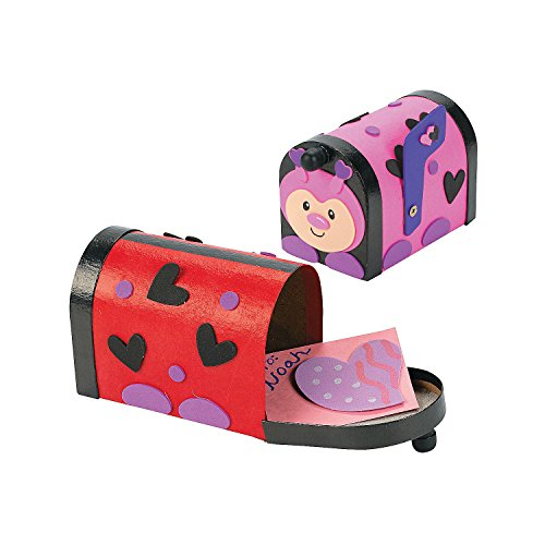 Ladybug Valentine Mailbox Craft Kit – Crafts for Kids & Decoration Crafts