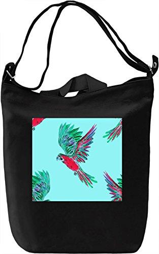 Birds Print Borsa Giornaliera Canvas Canvas Day Bag  100% Premium Cotton Canvas  DTG Printing 