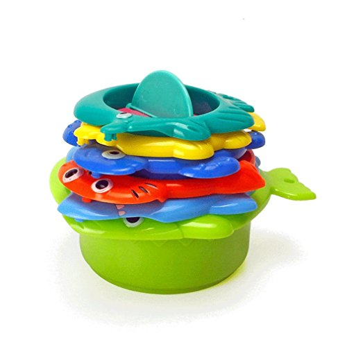 MONOMONO-6pcs Animals Colorful Float Water Summer Baby Bath Swimming Educational Toys