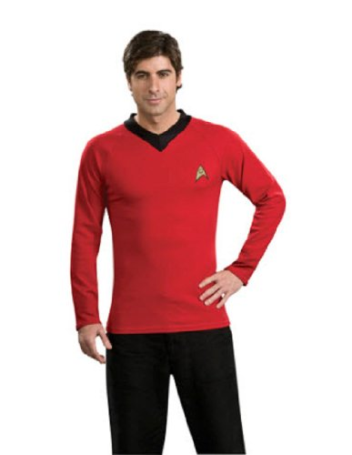 [Star Trek Classic Deluxe Red Shirt, Adult Medium Costume] (Red Star Trek Dress)