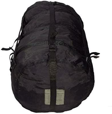 US Military 9 Strap Compression Stuff Sack Sleep System Black USGI TENNIER MSS