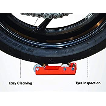 Gorgeri Motorcycle Wheel Cleaning Stand Motorbike Tyre Wheel Chain Cleaning Roller Stand Aluminum