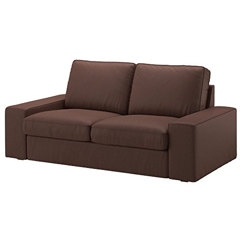 Chaise Loveseat (IKEA Genuine Slipcover for Kivik Sofa, Loveseat and with Chaise, Borred Dark Brown (Loveseat))