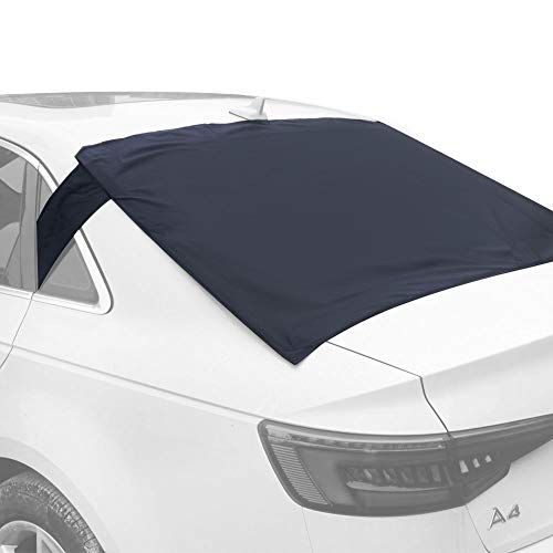 (Fullive Rear Windscreen Snow Cover, Anti Foil Ice Dust Sun Windshield Frost Covers & Sun Shade Protector for Vehicle Rear Windshield)