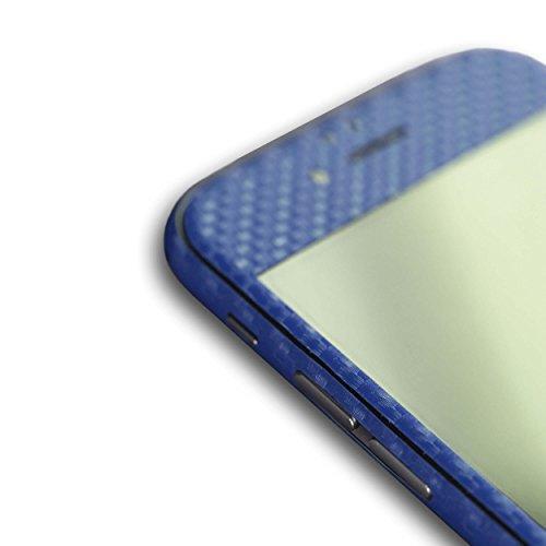 AppSkins Folien-Set iPhone 6s Full Cover - Carbon blue