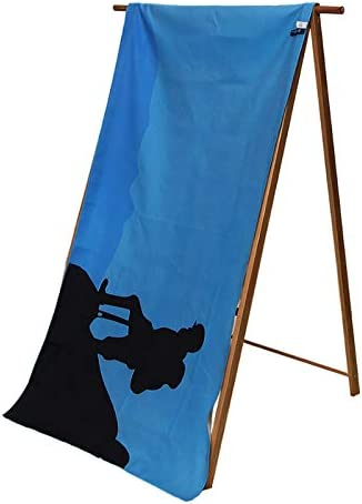 Microfiber Swimming Towel L:63x31.5in,Quick Dry Super Absorbent and Compact Towel for Swim,Bath,Yoga,Camping and Travel FRITHDAIL Microfiber Towel