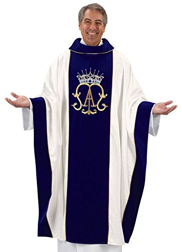 Marian Chasuble with Gold Embroidery