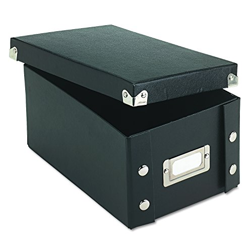 Ideastream Collapsible File Box (Snap-N-Store 4x6 Index Card Box, Black, SNS01577)