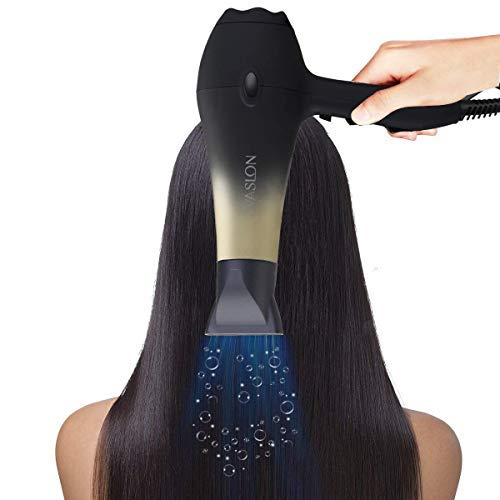 VASLON 1875W Low Noise Negative Ionic Blow Dryer with Concentrators & Diffuser,2 Speed and 3 Heat Setting