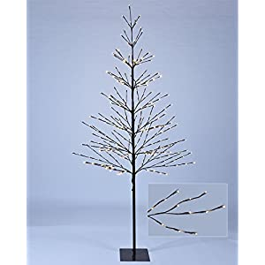 Lightshare 7 ft. Prelit Tree - Northern Lights Starlit Tree with 308 Bulbs LED Lights, 7 feet 8